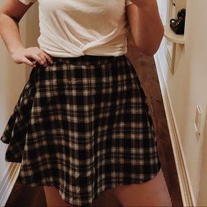 old school plaid skirt